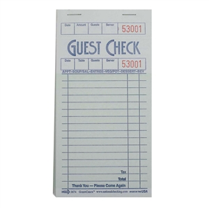 National Checking Guest Check Board Green 16 Lines - 3.5 in. x 6.75 in.