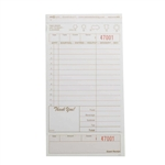National Checking Carbonless Guest Check Paper Tan 12 Lines - 4.2 in. x 7.75 in.