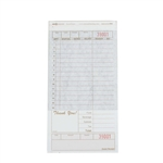 National Checking Carbon Guest Check Paper Tan 2 Part - 4.2 in. x 8.25 in.