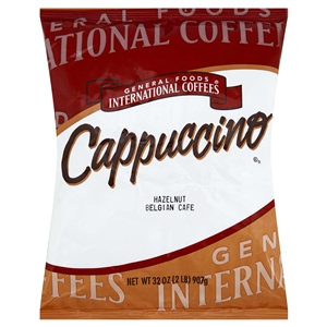 Kraft Nabisco General Foods International Hazelnut Belgian Caffeinated Coffee - 2 Lb.