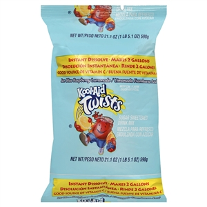 Kraft Nabisco Kool Aid Beverage Twist Blue Raspberry Lemonade - 2 Gal.