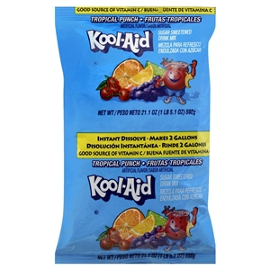 Kraft Nabisco Kool Aid Beverage Tropical Punch - 2 Gal.