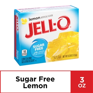 Jello Gelatin Lemon Sugar Free - 0.3 Oz.