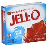 Kraft Nabisco Jello Strawberry Sugar Free Gelatin - 0.3 Oz.