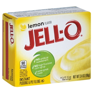 Kraft Nabisco Jello Instant Lemon Pudding - 3.4 Oz.