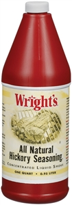 B and G Foods Wrights Hickory 32 oz. Liquid Smoke Seasoning
