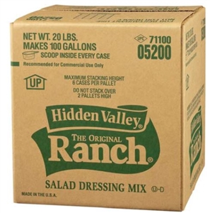 Clorox Hidden Valley Original Ranch Dressing Bag In Box - 20 Lb.