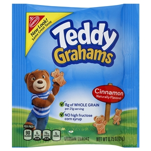Kraft Nabisco Teddy Graham Cinnamon Cookie - 0.75 Oz.