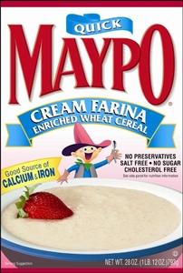Homestat Farms Maypo Cream Farina Cereal - 28 Oz.