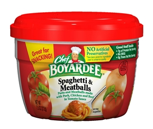 Conagra Chef Boyardee Entree Spaghetti With Meatball - 7.5 Oz.
