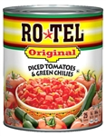Conagra Rotel Diced Green Chile Tomato - 28 Oz.