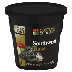Custom Culinary Gold Label Southwest Ancho and Lime Base No Msg Added 12 Oz.