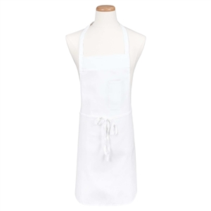 BVT-Chef Revival White Pencil Pocket 34 in. x 34 in. Bib Apron