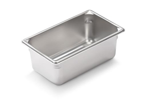 Vollrath Super Pan II Stainless Steel One Ninth Size Steam Table Pan 4 in.