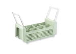 Vollrath 8 Compartment Flatware Basket With Handle - Green
