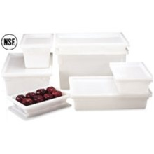 Cambro Plastic Container Clear White 5 Gal.