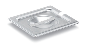 Vollrath Super Pan II Stainless Steel One Sixth Size Flat Slotted Cover