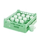Vollrath Plastic16 Compartment Rack Cup Green