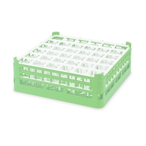 Vollrath Tall 36 Compartment Glass Rack Green