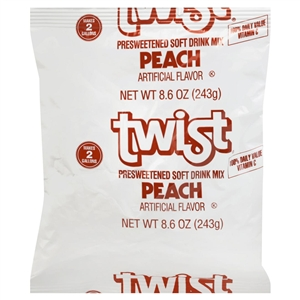 Kraft Nabisco Twist Peach Drink Mix - 2 Gal.