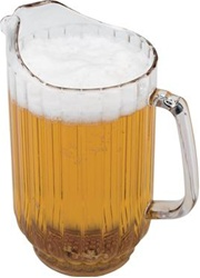 Cambro Plastic Ribbed Pitcher Clear 48 Oz.
