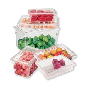 Cambro Plastic Container Clear 8.5 Gal.