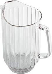 Cambro Plastic Ribbed Pitcher Amber 60 Oz.