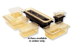 Cambro Food Pan Cover With Handle Half Size Amber