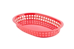 Tablecraft Chicago Plastic Oval Platter Baskets Red