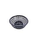 Tablecraft  Plastic Oval Baskets Black - 9.38 in. x 6 in. x 1.88 in.