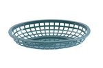 Tablecraft  Plastic Oval Baskets Forest Green - 9.38 in. x 6 in. x 1.88 in.