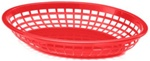 Tablecraft Jumbo Oval Baskets Red - 11.7 in. x 8.7 in. x 1.7 in.