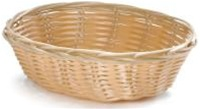Tablecraft Oval Plastic Basket - 9 in. x 6 in. x 2.25 in.