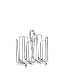 Tablecraft Jelly 4 Compartment Chrome Rack