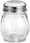 Tablecraft Perporated Top Glass Swirled Cheese Shaker - 6 Oz.