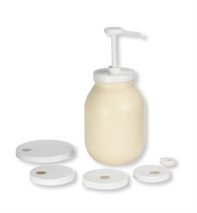 Tablecraft Plastic Pump Dispenser Kit - White