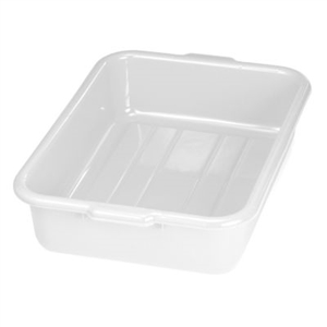 Tablecraft Tote Deep Bus Box White - 21.75 in. x 16.75 in. x 5 in.