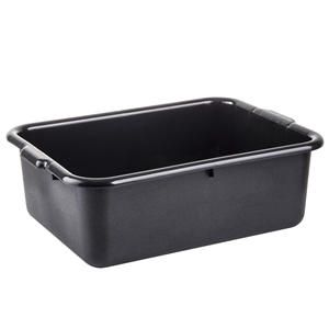 Tablecraft Tote Bus Box Black 22.25 in. x 16.5 in. x 7 in.