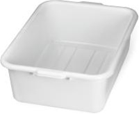 Tablecraft Tote Bus Box White 21.75 in. x 16.75 in. x 7 in.