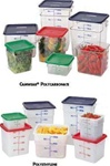 Cambro Square Plastic Container White 4 Quart