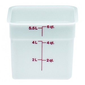 Cambro Square Plastic Container White 6 Quart