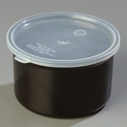 Carlisle Plastic With Lid Crock Black 1.5 Qt.