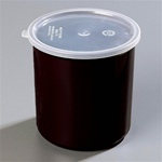 Carlisle Plastic With Lid Crock Black 2.7 Qt.