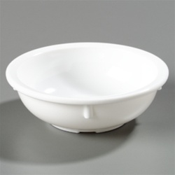 Carlisle Kingline Nappy Plastic Bowl White 10 Oz.