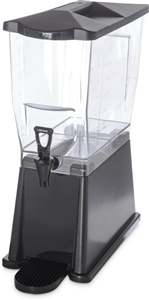 Carlisle Plastic Liquid Base Dispenser Black 3 Gal.