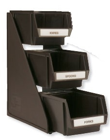 Traex Three Tier Set With Three Bins Stand Brown - 8 in.