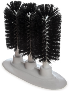 Carlisle Triple Glass Washer Brushes 8 in.