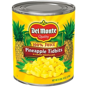 Del Monte Pineapple Juice In Tidbits Packed
