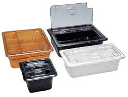Cambro Flip Lid One Third Size Amber