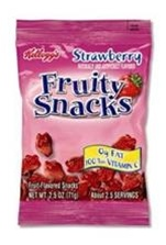 Kelloggs Strawberry Fruit Flavored Snack - 2.5 Oz.